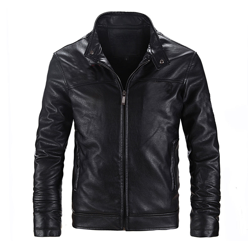 Tactical Leather Jacket Military Bomber Jacket US Army Style Pilot Jacket Slim Casual Motorcycle Biking Jacket PU Leather - 3 Colors