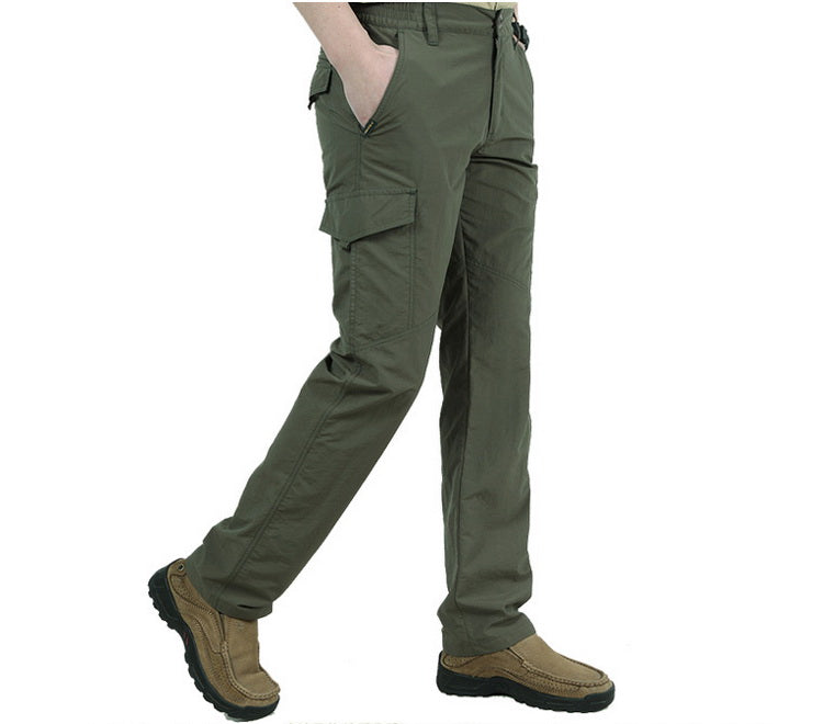 Tactical Lightweight Quick Dry Hiking Army Pants For Men Mountain Climbing Trekking Hiking Outdoor Sports Waterproof Pants - 3 Colors