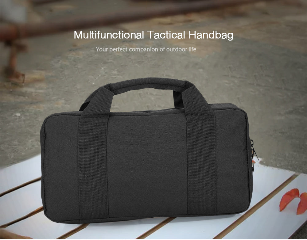 Tactical MOLLE 900D Nylon Briefcase Sport Bag Multi functional Tactical Bag Waterproof Pistol Package Tactical Notepad Tablet Hand Bag