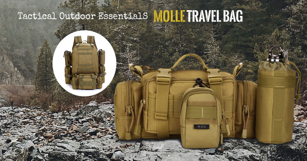 Tactical MOLLE Bag 3 Functions Ultra-Light Travel Pack Multi-Purpose Shoulder Bag Handbag Backpack Accessory Pack - 8 Colors