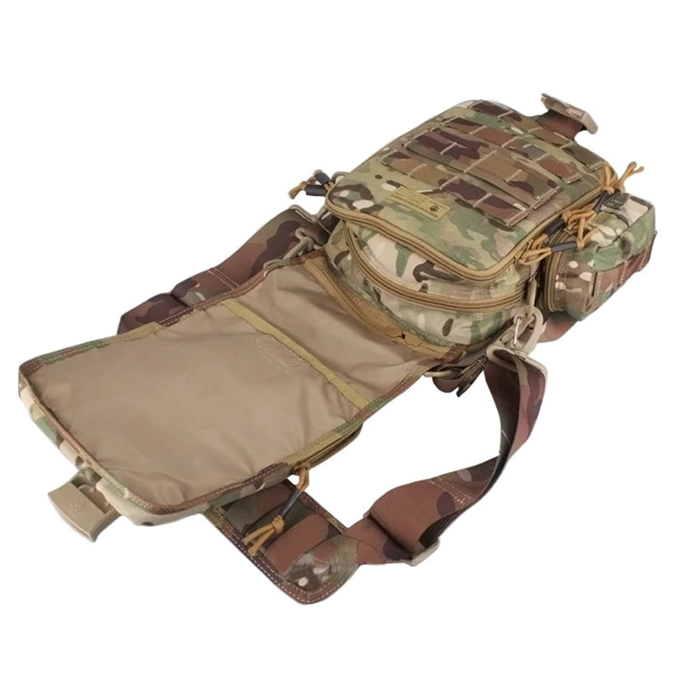 Tactical MOLLE Camouflage Mini Messenger Bag Tablet + Netbook Tactical Ipad Nylon Single Sling Strap Shoulder Bag
