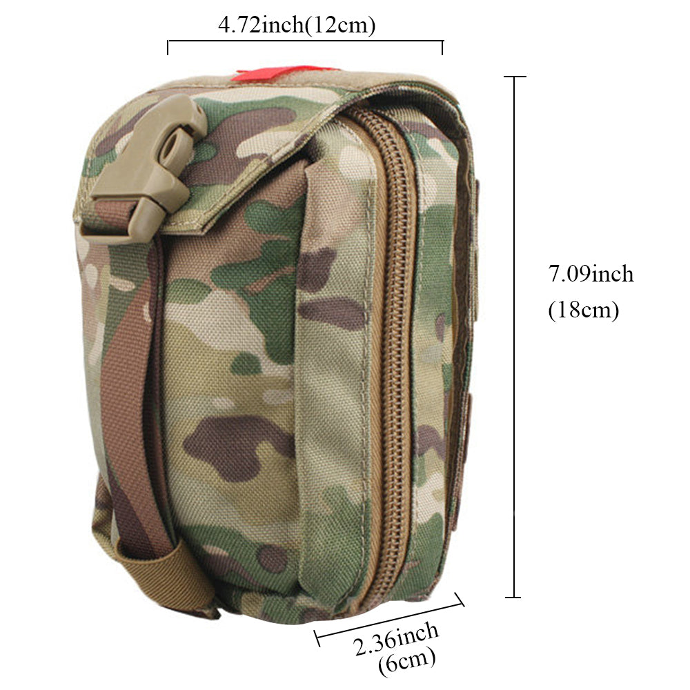 Tactical MOLLE First Aid Pouch Multicam Military Medical Bag Utility Pouch For Travel Airsoft Hiking Combat EDC Bag - 6 Colors