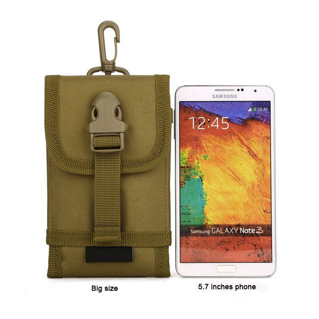 Tactical MOLLE Phone Pouch Backpack Attachment Travel Hiking EDC Accessory Molle Cell Phone Pouch - 6 Colors