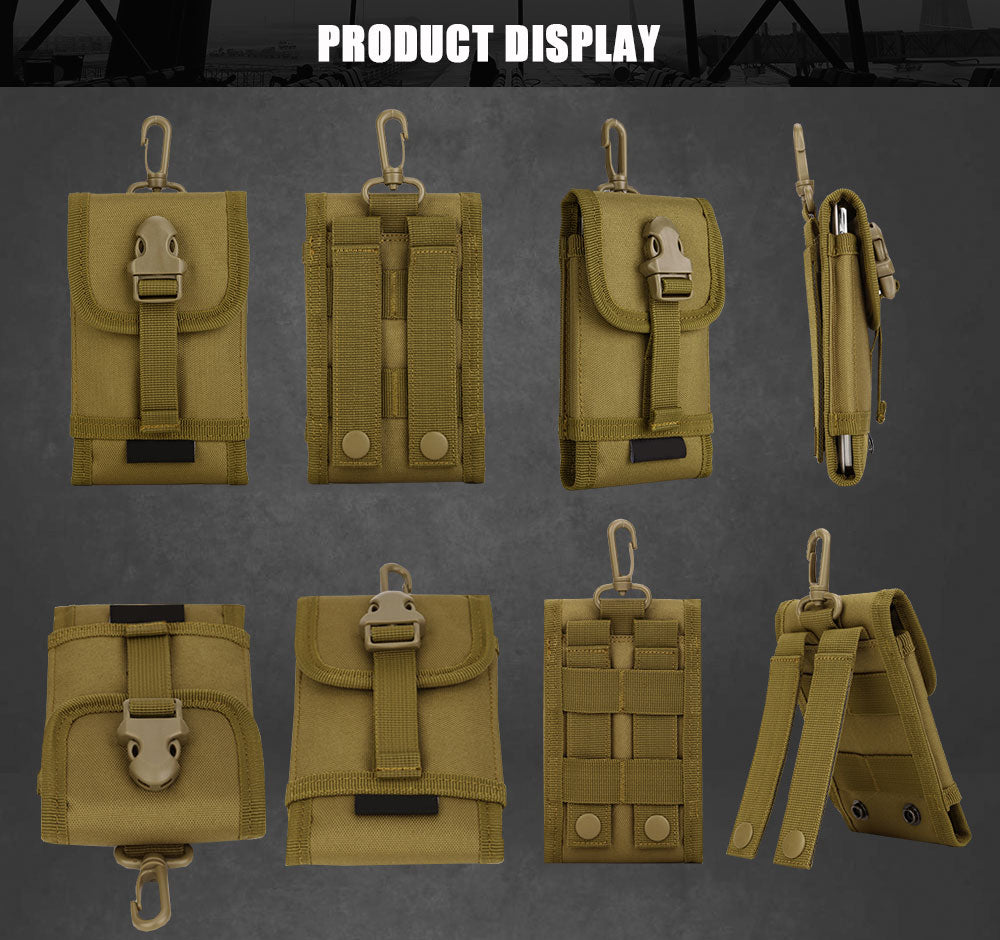 Tactical MOLLE System Accessory Pouch Backpack Attachment Travel Hiking Molle Cell Phone Pouch - 6 Colors