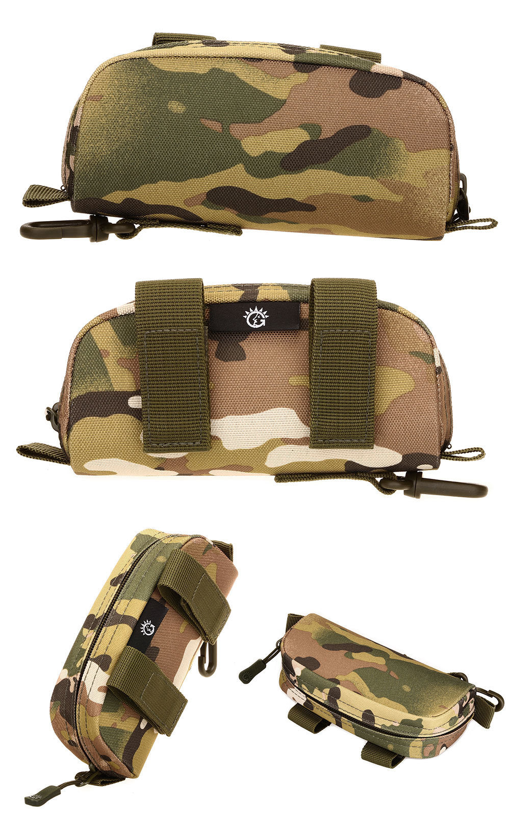 Tactical MOLLE System Pouch Belt Pack Sunglasses Case Waterproof Camouflage Waist Bag Belt Pack EDC Pouch For Hiking Sports MTB Travel Hunting - 4 Colors