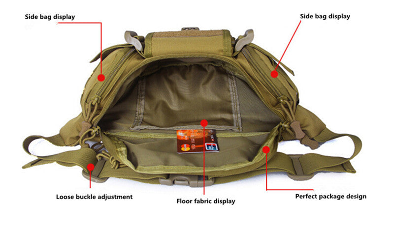 Tactical MOLLE Waist Bag Hip Pack Waterproof Travel Bag Molle System Pouch Belt Pack For Hiking Trekking Tactical Outdoor - 7 Colors