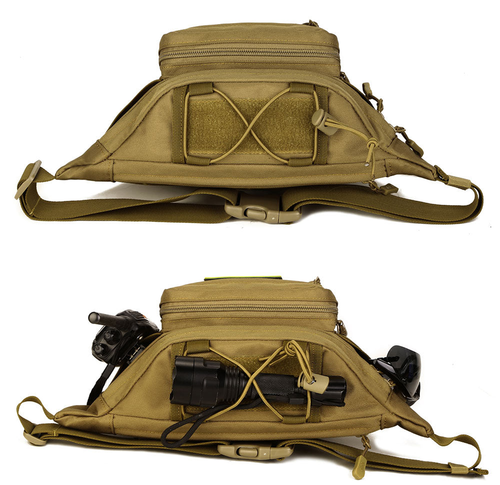 Tactical MOLLE Waist Pack Hardwearing Durable Nylon Fits Mini Tablet For Hiking Running Travel Molle Belt Pack - 7 Colors
