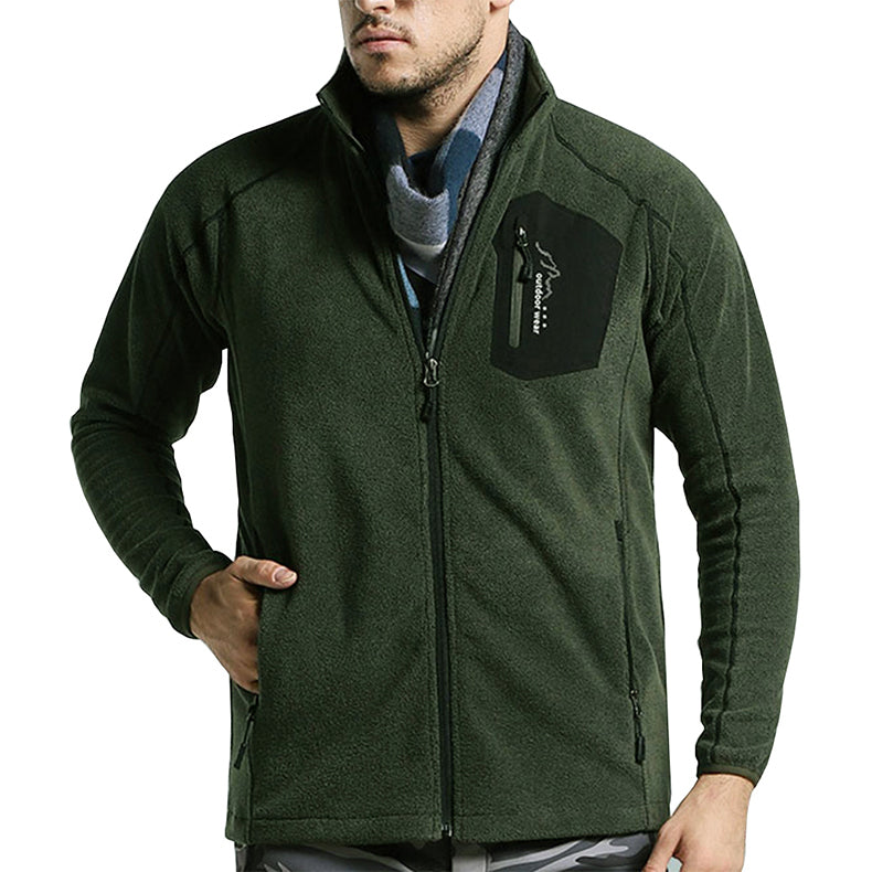 Tactical Military Fleece Jacket Coat Winter Men Thermal Mid Layer Fleece Liner Jacket Army Green Men's Windproof Fleece Jacket For Men