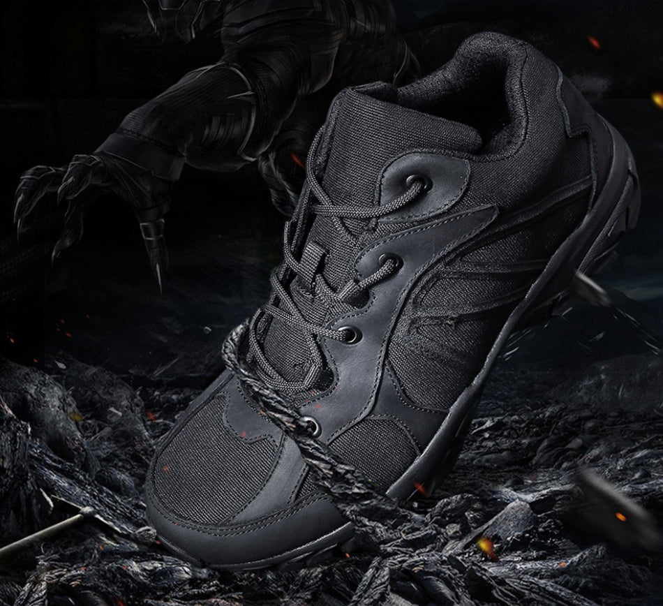 Tactical Military Sneakers Mens Shoes For Outdoor Pursuits Trekking Hiking Shoes Non-Slip Wear-Resistant Tactical Footwear - 2 Colors