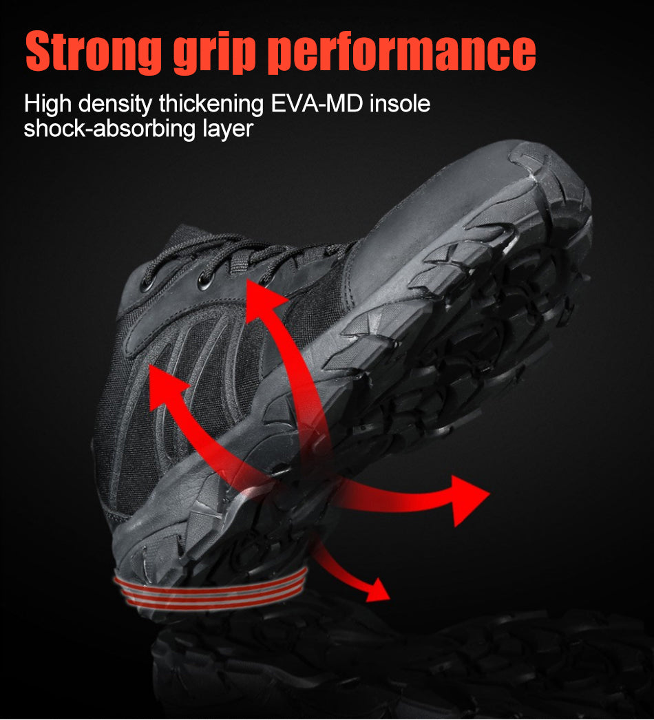 Tactical Military Sneakers Mens Combat Shoes For Outdoor Pursuits Trekking Hiking Shoes Non-Slip Wear-Resistant Tactical Footwear - 2 Colors