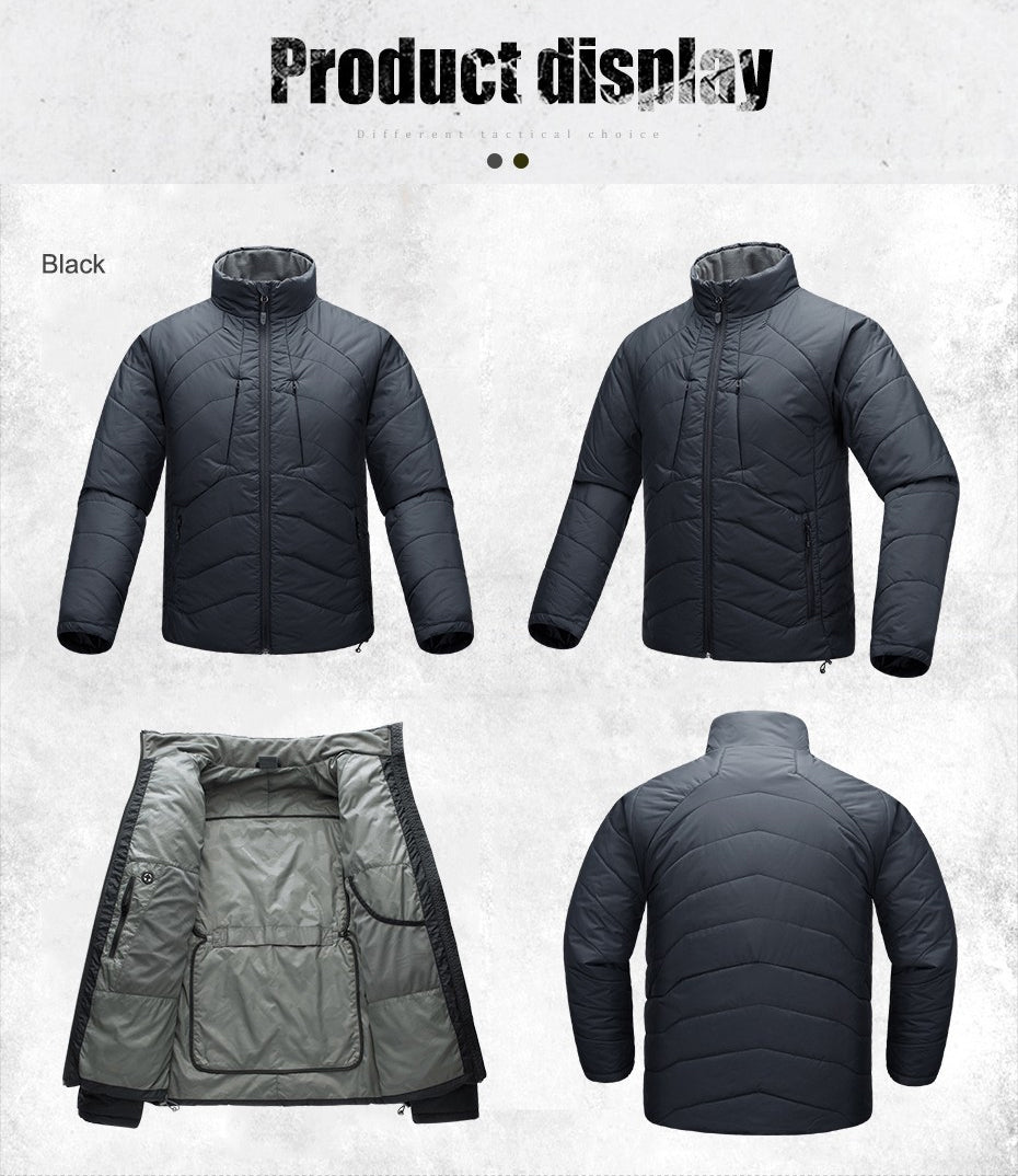 Tactical Military Style Men's Quilted Jacket Stylish Outdoor Practical All Purpose Outer Wear
