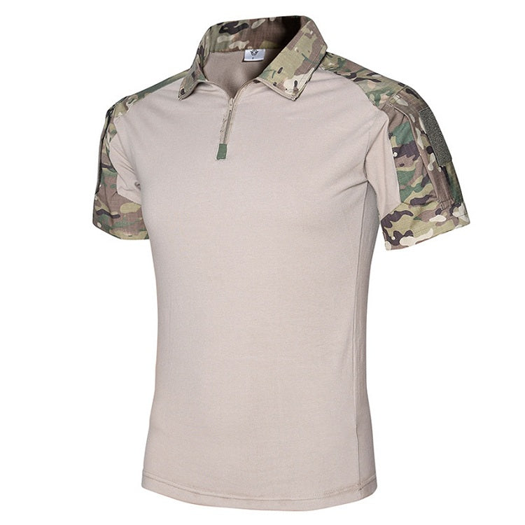 Tactical Quick Dry Breathable T-Shirt For Men Anti-UV Hiking Trekking Tactical Airsoft Short Sleeve Camouflage T-Shirt For Men - 5 Colors
