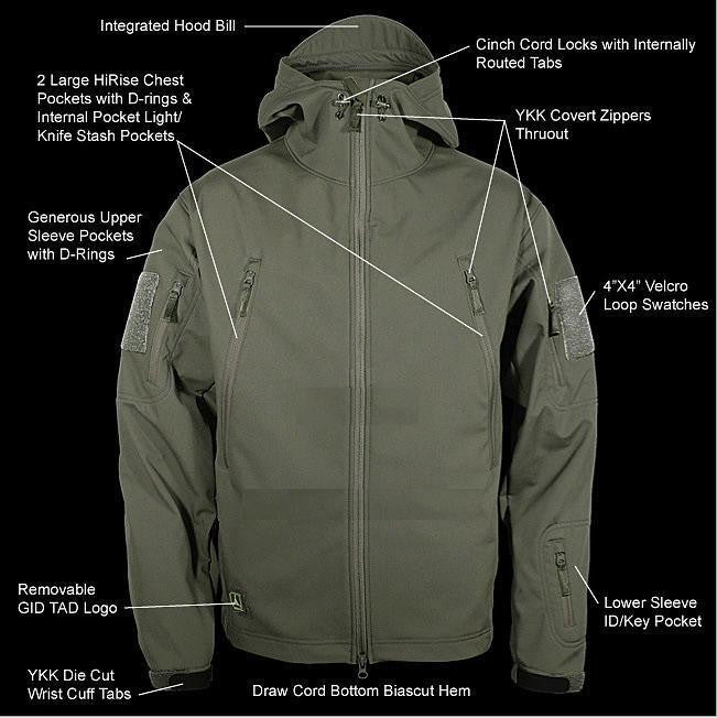 4 Season Tactical Softshell Jacket Men Outdoor Waterproof Sports Camouflage Hunting Hiking Trekking Outdoor Jacket - 13 Colors