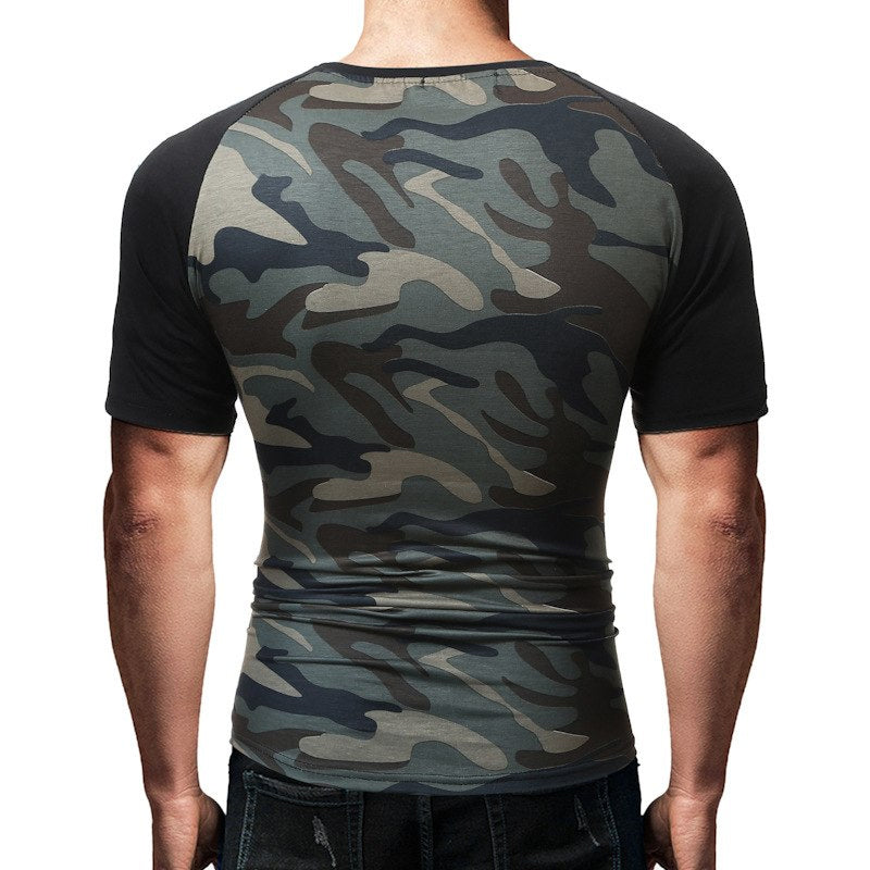 Tactical T-shirts Army Style Military Camouflage Combat Tee Shirts For Men Breathable Quick Drying Short-Sleeve T-shirts - 3 Colors