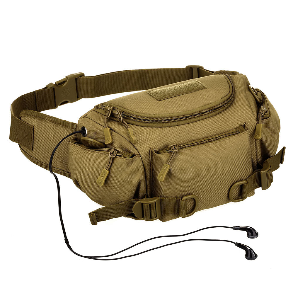 Tactical Waist Pack Camouflage Dual-Purpose Travel Pouch For Sports Climbing Trekking Riding Cycling Camping Hiking Waist Bag - 4 Colors