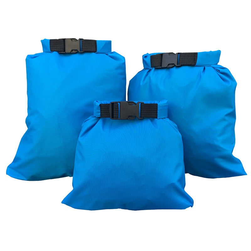 Waterproof Dry Bag Storage Packs Silicone Coated Fabric Pressure Pouch For Rafting Canoeing Boating Dry Sack - 3 Pc Packs and 5 pc Packs