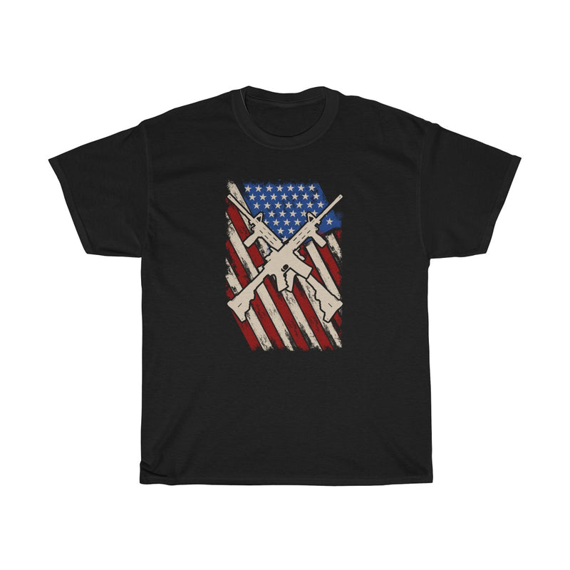 American AR-15 Flag Mens Womens T-shirt