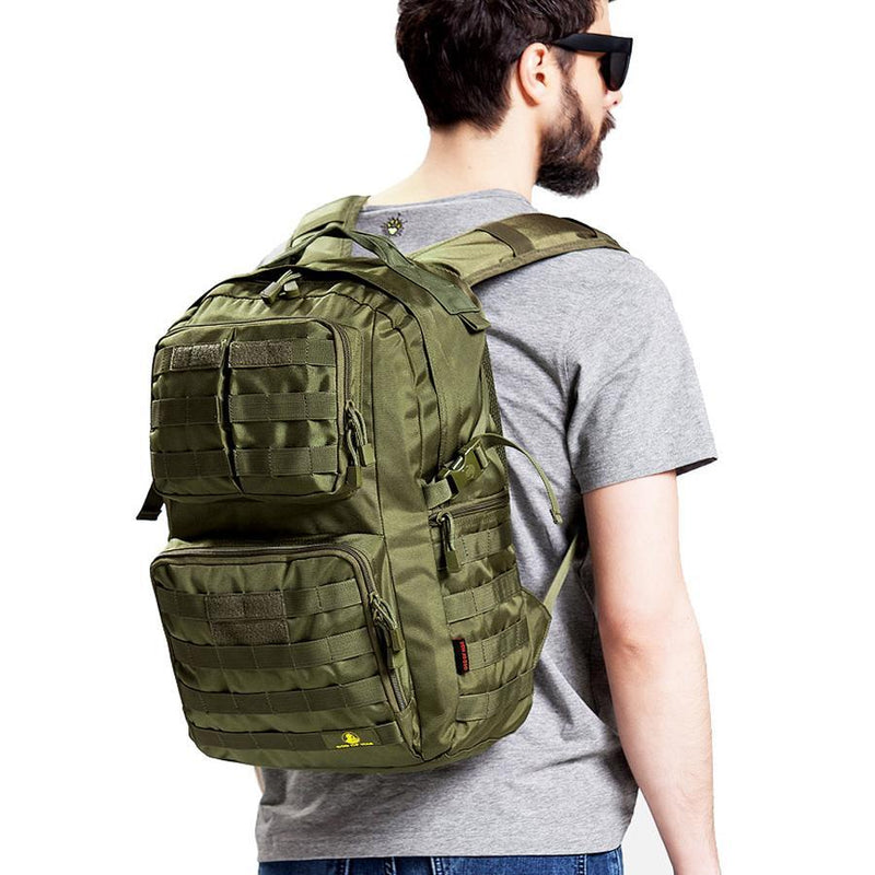40L Tactical MOLLE Backpack For Hiking Hunting Fishing Camping Travel Rucksack Waterproof Nylon Tactical Military Army Day Pack - 3 Colors