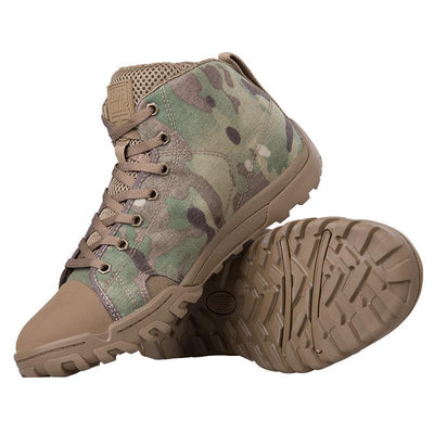 Men's Lightweight Desert Combat Camouflage Tactical Trekking Boots Breathable Cordura All Terrain Hiking Shoes - 2 Colors