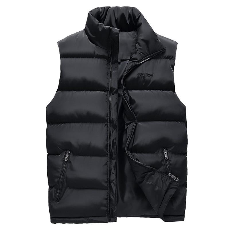 Men's Padded Sleeveless Jacket Thermal Body Warmer Quilted Outer Layer Slim Fitting Sleeveless Casual Winter Jacket For Men - 3 Colors