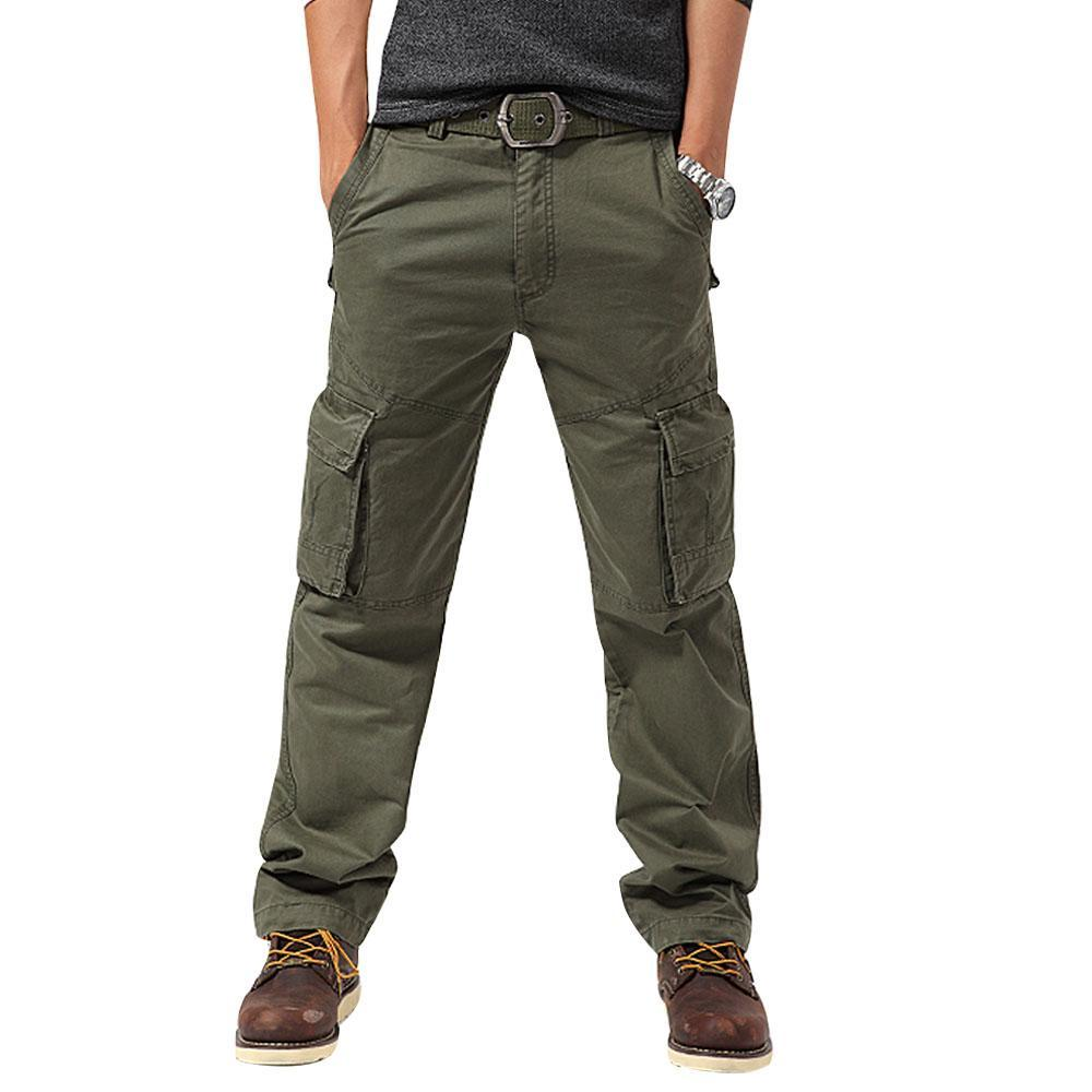 Men's Tactical Combat Pants Outdoor Hiking Trousers Windproof Wear Resistant Multi-pocket Cargo Pants - 3 Colors