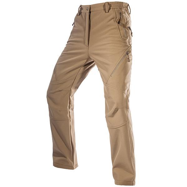 Tactical Pants For Men Soft-Shell Weatherproof Fleece Fabric All Purpose Pants For Working Trekking Hiking Hunting Fishing - 4 Colors