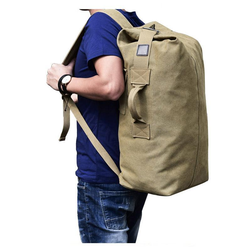 Multifunctional Military Tactical Canvas Kit Bag Army Duffle Bag Travel  Rucksack bcb2d4560f1