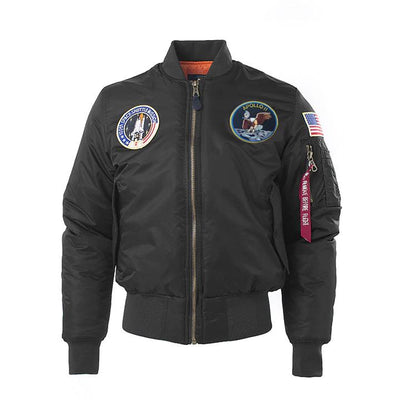 SPECIAL EDITION Apollo 100th SPACE SHUTTLE MISSION Pilot Flight Jacket US Air Force MA-1 Bomber Jacket For Men (Thick) - 3 Colors