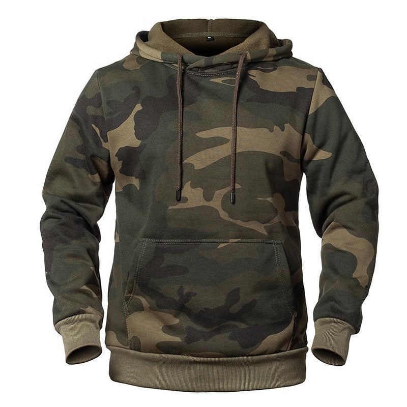 Tactical Army Camouflage Hoodies For Men Military Style Fleece Sweatshirt Fleece Hooded Casual Camo Hoody - 2 Camo Colors