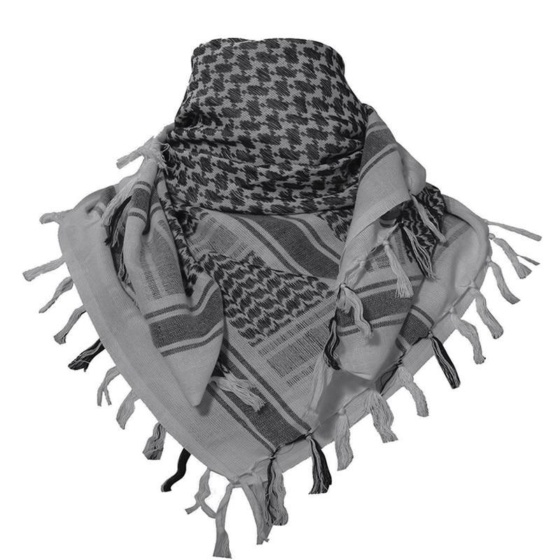 Tactical Scarf Desert Military Camouflage Headwear Arabic Keffiyeh Head Scarf Men Women Cotton Paintball Face Mask - 6 Colors