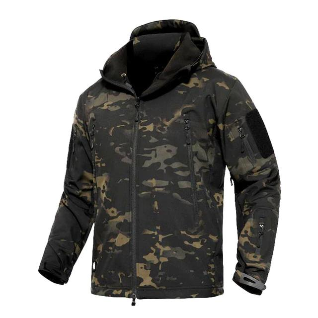Tactical Softshell Jacket Waterproof Windproof Outdoor Sports Jacket For Hunting Trekking Travel Military Camouflage Fleece Jacket For Men - 17 Colors