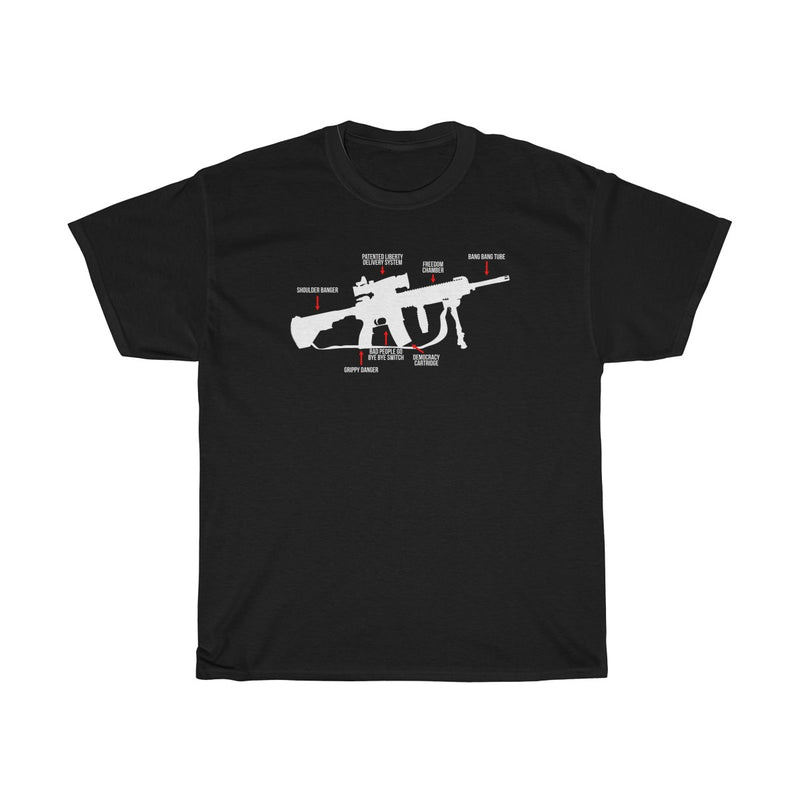 AR-15 Parts Diagram Funny Mens Womens T-shirt