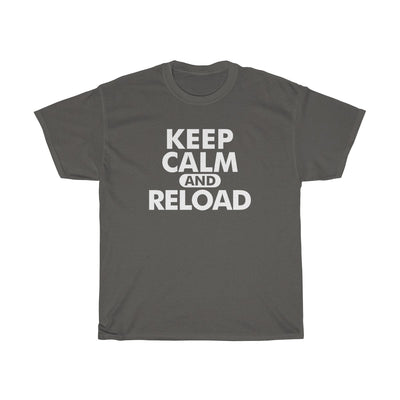 Keep Calm & Reload Mens Womens T-shirt