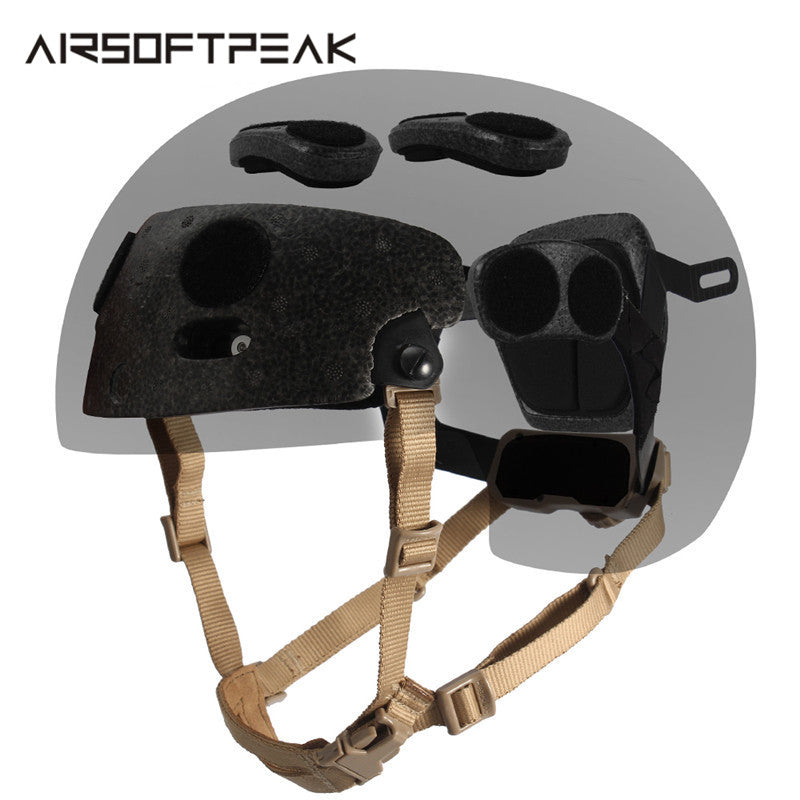 AIRSOFTPEAK TB272 Military Tactical Combat Molle Inner Suspension Strap System OCC-Dial Liner Helmet Kit for Airsoft Paintball in Black or Desert Tan