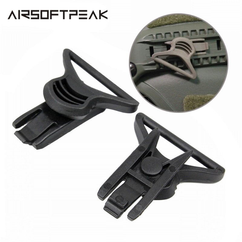 AIRSOFTPEAK TB312 Military Tactical Combat Molle Helmet Goggle Swivel Clips for Airsoft Paintball - 3 Colors