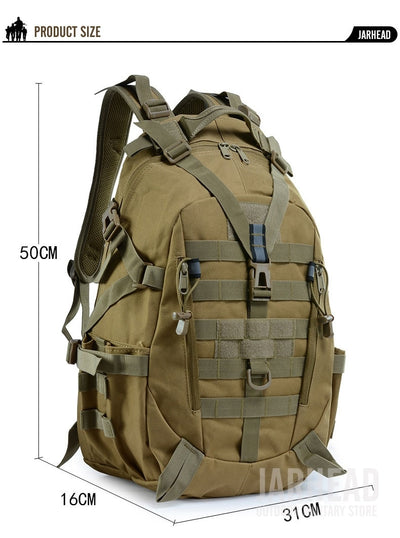 "JARHEAD 20""x12""x6"" (50x31x16cm) Molle Military Tactical Combat Nylon Canvas Backpack"