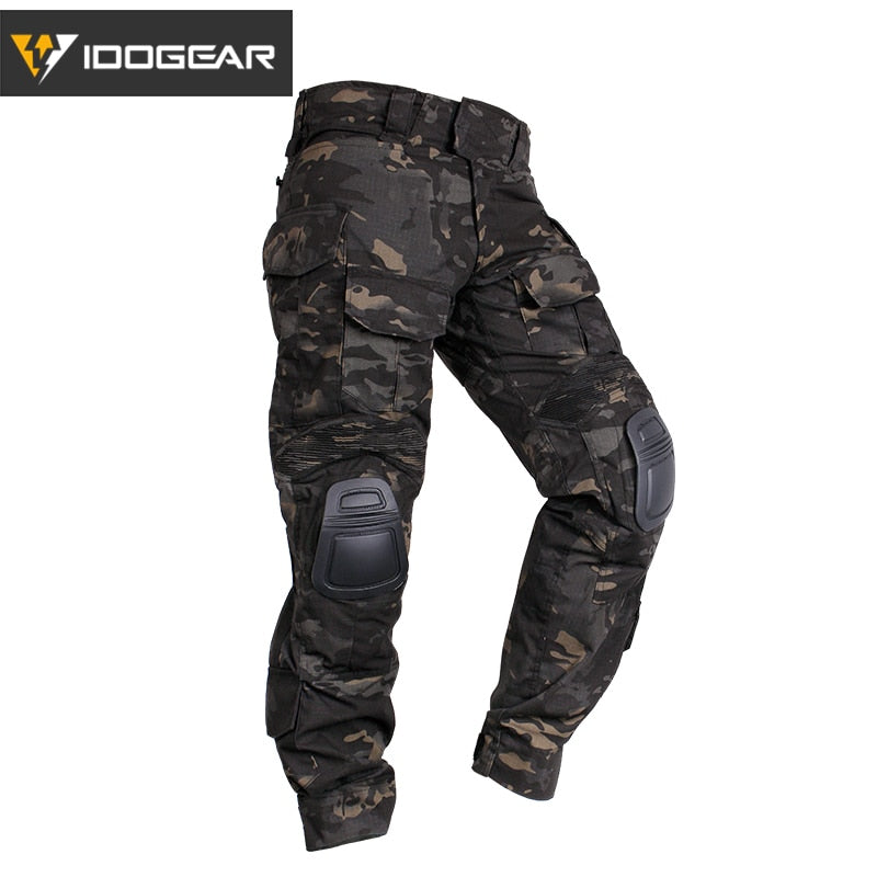 IDOGEAR G3 Military Tactical Combat Cotton Polyester Camouflage Men's Pants with Knee Pads - 2 Camo Colors