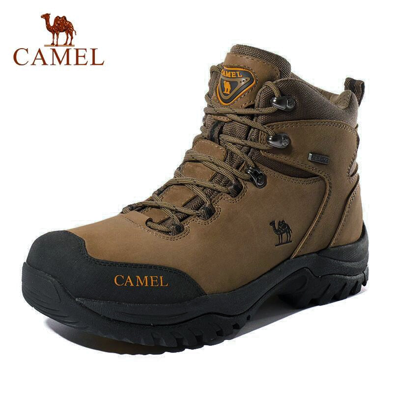 CAMEL Military Tactical Combat Mid-Ankle Leather Mens Womens Boots Black Brown Green