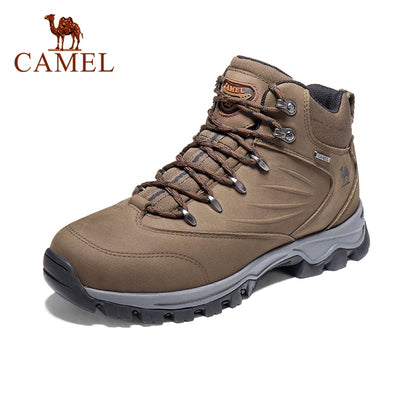 CAMEL Military Tactical Combat Mid-Ankle Leather Mens Boots Black Brown