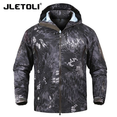 JLETOLI Hooded Military Tactical Combat Men's Camouflage Water Resistant Windbreaker Jacket - 12 Camo Colors