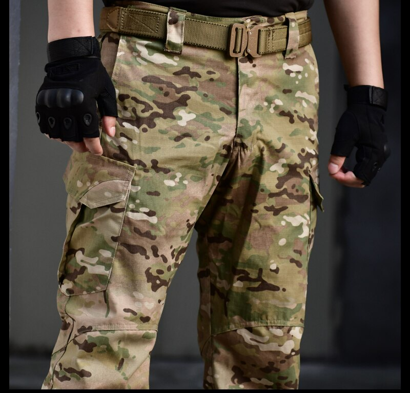 IDOGEAR IG-PA3204 Military Tactical Combat Cotton Polyester Camouflage Men's Pants - 2 Camo Colors