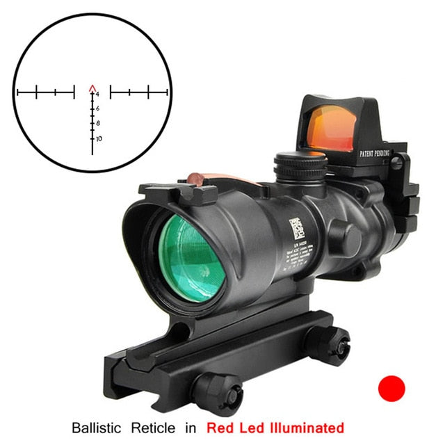 BESTSIGHT 4x32 Mag Tactical Combat Rifle Optical Lens Scope or with Mini RMR Red or Green Dot Sight