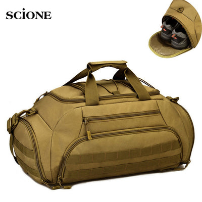 SCIONE 35L or 45L Military Tactical Combat Molle Nylon Shoulder Carry Backpack Bag - 5 Camo Colors