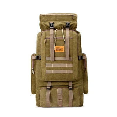 "SCIONE Large 100L 26gal 36""x15""x8"" (92x38x21cm) Military Tactical Combat Canvas Backpack"