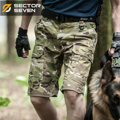 SECTOR SEVEN IX5S Military Tactical Combat Camouflage Cotton Polyester Men's Cargo Shorts - 3 Camo Colors