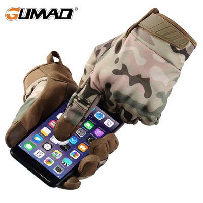 GUMAO A24 Military Tactical Combat Camouflage Anti-Skid Hard Knuckle Full Finger Gloves
