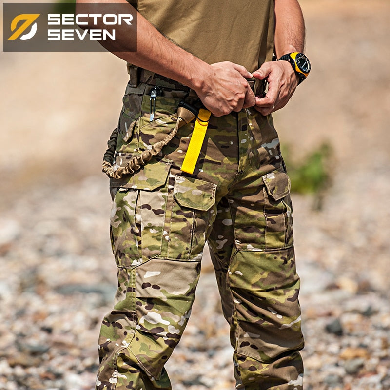 SECTOR SEVEN IX2 Military Tactical Combat Cotton Polyester Camouflage Men's Pants - 2 Camo Colors