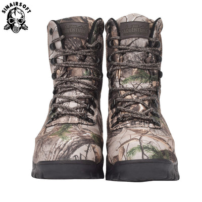 SINAIRSOFT Tactical Military Combat Leather Men's Boots Camo Camouflage