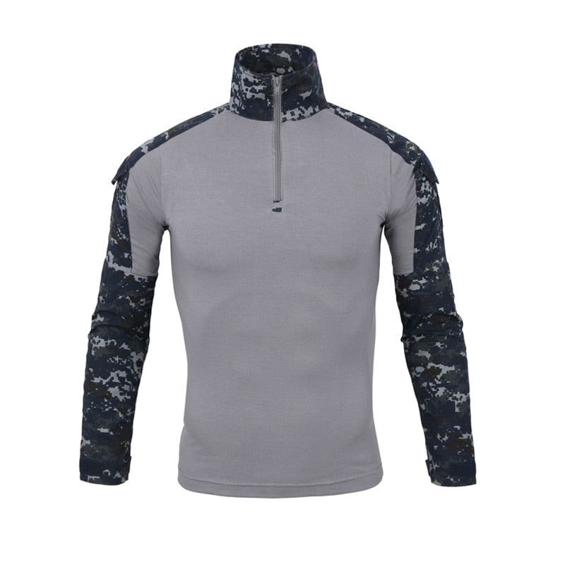 aichAngel SA072 Military Tactical Combat Camouflage Cotton Polyester Long Sleeve Men's Shirt - 11 Camo Colors