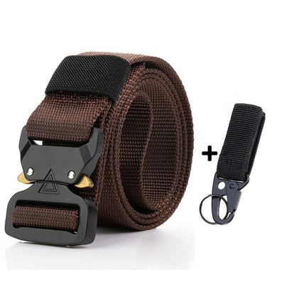 "OLN 1.5"" x 48"" or 52"" (3.8cm x 125cm or 135cm) Military Tactical Combat Nylon Canvas Metal Buckle Pants Waist Belt"